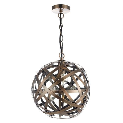 Voyage 1 Light Pendant Ball Antique Copper (Class 2 Double Insulated) BXVOY0164-17